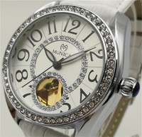 Wholesale china digital watches for sale - Group buy Mechanical Watches Brand Women Belt Digital Decorated Diamond Watch Factory Direct Sales China Cheap Label Automatic Hollow White Watch