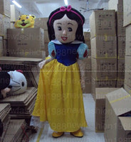 Wholesale Snow White Adult Cartoon - 2017 High quality Snow White Mascot Costumes Cartoon Character Costume Adult Fancy Dress Halloween carnival costumes Free Shipping