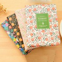 Wholesale Diary Book Flower - Wholesale- PU Leather Floral Flower Schedule Book Diary Weekly Planner 2017 Notebook School Office Supplies Kawaii Stationery Notebooks