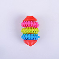 Wholesale toy gears for sale - Group buy Colorful Swivel Toys For Pet Dogs Chew Gear A Molar Tooth Toy Healthy Non Toxic Gnaw Rubber Ball fd A