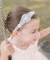 Wholesale Baby Headbands Crystal - 2016 Crystals Flower Girl Baby Hair Accessories Cheap Wedding Little Girl Headbands 40 CM Wedding Jewelries 04