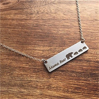 Wholesale Cute Lettering - Hot selling New Fashion Cute animal bears necklace jewelry wholesale. Lettering Mama Bear with four bears Handmade bar Necklace. Warm mothe