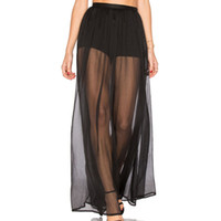 Wholesale Transparent Maxi Skirt - Women Tulle Maxi Long Skirts Black Transparent High Waist Design Elastic Belt 2017 Summer Beach to Bar Clothes Tunic Jupe