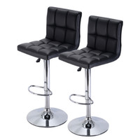 Wholesale Counter Stools - Set of 2 Bar Stool Luxurious PU Leather Barstools Chair With Adjustable Counter Swivel Pub New