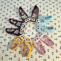 Wholesale Mixed Cartoon Slippers - New Cute Girl Owl jelly Slipper Sandals Baby Cartoon Shoes Toddler Kids Beach Footwear Candy Smell Shoes Mix Color Size Wholesale 12pair lot
