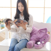 Wholesale Toys Bear Biggest - toy shock Biggest 60cm Infant Soft Appease Elephant Playmate Calm Doll Baby Toys Elephant Pillow Plush Toys Stuffed Doll Girl Friend Gift
