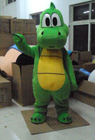 Wholesale Cartoon Character Costume Dinosaur - Green Dinosaur Cartoon Character Mascot Costume Fancy Party Dress Halloween Carnivals Costumes With High Quality For Adult