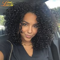 Wholesale ms lula hair - Ms Lula Brazilian Human Hair 4 Bundles Curly Human Hair Unprocessed Malaysian Peruvian Kinky Curly Hair Dyeable Virgin human weft
