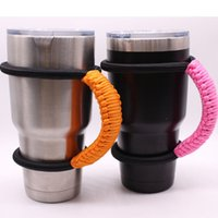 outdoor water handle - 6 qb Fashion Cover Seven Core Paracord Water Bottles Holder Manual Weave Cups Sleeves Insulation Cup Handles Mug Sleeve For Outdoor R