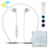 Wholesale Necklace Earphones - ST8 Necklace Bluetooth Headset Earphone Sports Bluetooth High Quality With Package for xiaomi huawei iphone 7 8 X plus samsung s8 edge