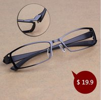 Atacado- Homens Chashma Titanium Alloy Metal Eyeglasses Frame Full Frame Ultra Light Myopia Óculos