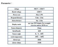Wholesale Auto Dvd Monitor - DVD parking sensor PZ600 TFT rearview mirror four sensors auto car camera human voice Bibi sound alarm 64 colors to choose Free dhl