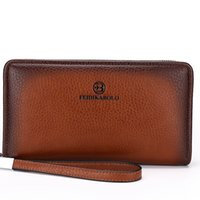 Wholesale Men Business Clutch Bag - 2017 New Leather Purse Men's Clutch Wallets Handy Bags Business Carteras Mujer Wallets