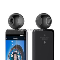 Wholesale Mini Fish Eye - Air Mini Panoramic Camera 360 Degree Cam 3K HD Wide Dual Angle Fish Eye Lens VR Video Camera for Andriod Smartphone