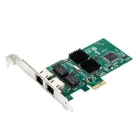 Wholesale Dual Port Network Card - Wholesale- Dual Port 1000Mbps Network Card PCIe 1x Gigabit Server Adapter intel82540 chipest