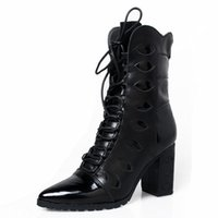 Winter Warm Fashion Ankle Boots Pointed Toe Zipper maduro após Cow Suede Leather Women Lace-Up Mixed Color Boots