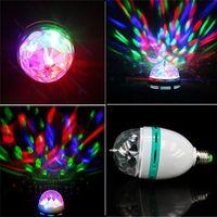 Wholesale Led Bulb Rgb Disco - 3W E27 LED Full Color RGB Auto Rotating Lamp Crystal Stage DJ Party Light Bulb Crystal Disco Lamp 85-265V