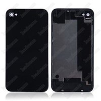 iphone 4s rückseitige abdeckung gehäuse großhandel-200er Back Glass Full Housing Back Cover Batterieabdeckung mit Flash Diffusor für iPhone 4 4s