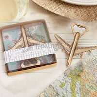 Wholesale bottle opener wedding giveaways resale online - Antique Bronze Airplane Bottle Opener Travel Destination Adventure Wedding Favors Event Keepsakes Engagement Giveaways