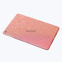 Wholesale Ipad Full Body Sticker - Wholesale- Luxury Sparkly Glitter Shining Bling Full Body Wrap Skin Sticker For iPad Air 2 Proetction Case Cover Air2