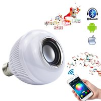 Hot Sale Wireless Bluetooth 12W LED Speaker Bulb Audio Haut-parleur E27 RGBW Lampe de lecture de musique avec 24 touches de télécommande