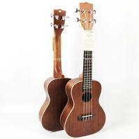 Wholesale Guitar Satin - Wholesale- Free shipping guitars,23 inch Concert Full Sapele Acoustic ukulele 23,Hawaii Ukelele guitar,chinese guitarras,KA-C,nature satin