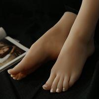 ingrosso bambola reale di amore pieno formato-Bambole reali del sesso della pelle masturbazione giapponese silicone pieno a grandezza naturale piedi falsi modello giocattolo del feticismo del piede giocattoli sexy bambola di amore