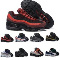 Wholesale Retro Floor - 2017 Men Retro 95 OG Cushion Navy Sport Air High-Quality Chaussure 95s Walking Boots Men Running Shoes Air Cushion 95 Sneakers Size 40-46