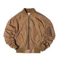 Wholesale Satin Jackets Men - Wholesale- New FEAR OF GOD FOG JUSTIN BIEBER High street Men Clothes Clothing Mens jackets kanye west pilot flight satin ma1 bomber jacket