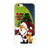 Wholesale Cell Christmas Cases Wholesale - Christmas back cover for iphone7 Soft TPU cell phone case hot selling with several patterns shell
