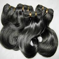 cabelo peruano com desconto venda por atacado-6 pçs / lote tecer curto 100% cabelo humano processado peruano 50g / pcs onda do corpo trama cores escuras 8