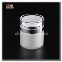 Wholesale Wholesale Airless Cosmetic Packaging - Wholesale- ZA100 50ml airless pump bottles wholesale, 50ml airless cosmetic container, 50ml pearl white cosmetic package with airless pump