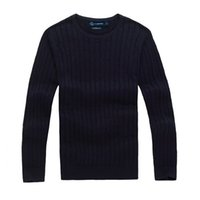 Wholesale England Wool Sweater - Free shipping 2018 new high quality polo brand men's twist sweater knit cotton sweater jumper pullover sweater men