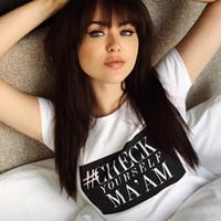 camisas casuales a cuadros al por mayor-# Revísese Usted mismo MA'AM Mangas cortas Camisetas Camisetas para damas Inst Encantadoras Pepa Kristina Bazan Kenza Zouiten Lucha contra el cáncer de mama