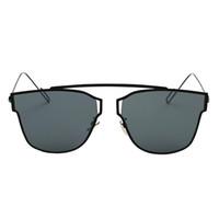 Wholesale Pc Flat Panel - S5Q Unisex Premium Quality Sunglasses Metal Frame Flat Panel Lens Sun Glasses AAAGGT