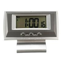 c63b36fd9b8 Atacado-Prata ABS NA-238A Display LCD Auto Painel de carro Digital Hora Relógio  Relógio Cronômetro Qualidade durável