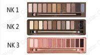 12 color eyeshadow palette venda por atacado-12 cores da sombra NUDE Eye Shadow 1 2 3 paleta de cores três do estilo Eyeshadow Palette Com Escova