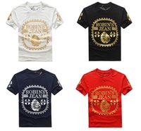 Wholesale New Pattern For Embroidery - New Robin jeans mens t shirts large size 3XL tshirts for men short sleeve Letter Pattern tshirt o-neck Breathable t shirt