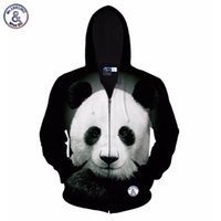 Wholesale Big Jackets For Men - Hip Hop Autumn winter jacket for men women hoody 3d printed big animal panda hooded hoodies 3d sweatshirts tops