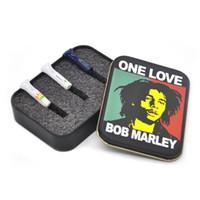 Wholesale Iron Cigarette Case - 1 X BOB MARLEY Classic MetalHolder Tobacco Box we can customize your logo Cigarette Case