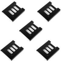 """Wholesale hard drive screws - Wholesale- F17854-5 5 pcs 2.5"""" SSD HDD To 3.5"""" Black Mounting Adapter Bracket Dock Hard Drive Holder with Screws for PC"""