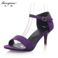 Wholesale Stylish Women Sandals - Wholesale-2016 Rome stylish Factory Price Mid Heels quality fashion sandals dress casual shoes lady's sandals Big size 33-43