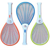 Barato Zapper Elétrica Fly Swatter Raquete-Mosquito Nets Swatter Bug Insect Electric Fly Zapper Killer Racket Recarregável Com Lanterna LED Diversos Domésticos Pest Control