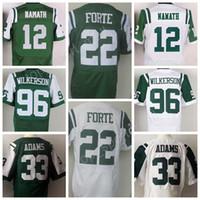 Wholesale Discount Baseball - Discount 33 Jamal Adams Jersey Men 22 Matt Forte 96 Muhammad Wilkerson Jerseys Green White 12 Joe Namath Uniforms Embroidery Top Quality