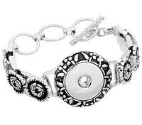 Wholesale Cheap Heart Chain Bracelet - NOOSA Metal Snap Button Charm Bracelet Interchangeable Jewelry Ginger Snaps Jewelry Fashion DIY jewelry Cheap Noosa