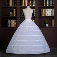 Wholesale adults princess skirts - Real Image Ball Gown Wedding Dresses Petticoat Circle Hoops White Pannier Bustles Princess Slip Skirts Petticoat High Quality