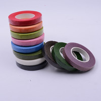 Wholesale Paper Garland Decoration - Wholesale- 25Meter Paper Garland Tape Artificial Flower Fixed Supplies For Wedding Decoration DIY Wreath Flores Garland Supplies Tape Glue