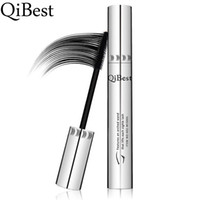 Wholesale Eyelash Curl Cream - QiBest Women Multi-functional Mascara Waterproof Long Curling Natural Eyelash Cream Black Mascara Eye Lashes Brush Makeup Mascara
