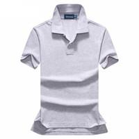 ingrosso mescola la camicia lunga del manicotto rosso-Camicia di polo di polo di polo di manica corta da uomo di alta qualità 2017 estate di modo di polo di alta qualità camicia di cotone 12 colori taglia S-XXL