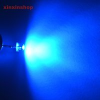 Wholesale White Super Bright Diode - Wholesale- 1000 Pcs 5mm Blue Straw Hat Wide Angle Water Clear Super bright LED Light emitting diode wholeasle